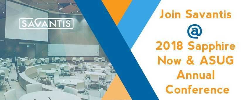Join-Savantis-@-2018-Sapphire-Now-and-ASUG-Annual-Conference-Blog